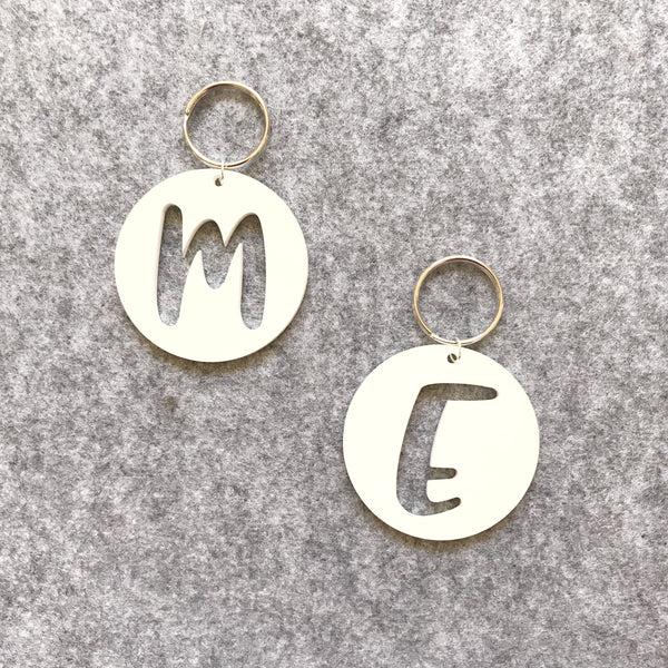Alphabet key tag/ring (Bag tag)