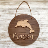 Personalised 3D dolphin plaque