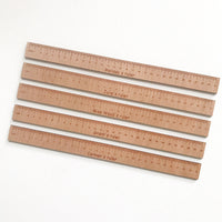 Personalised wooden/acrylic rulers