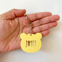 Personalised bear keychain