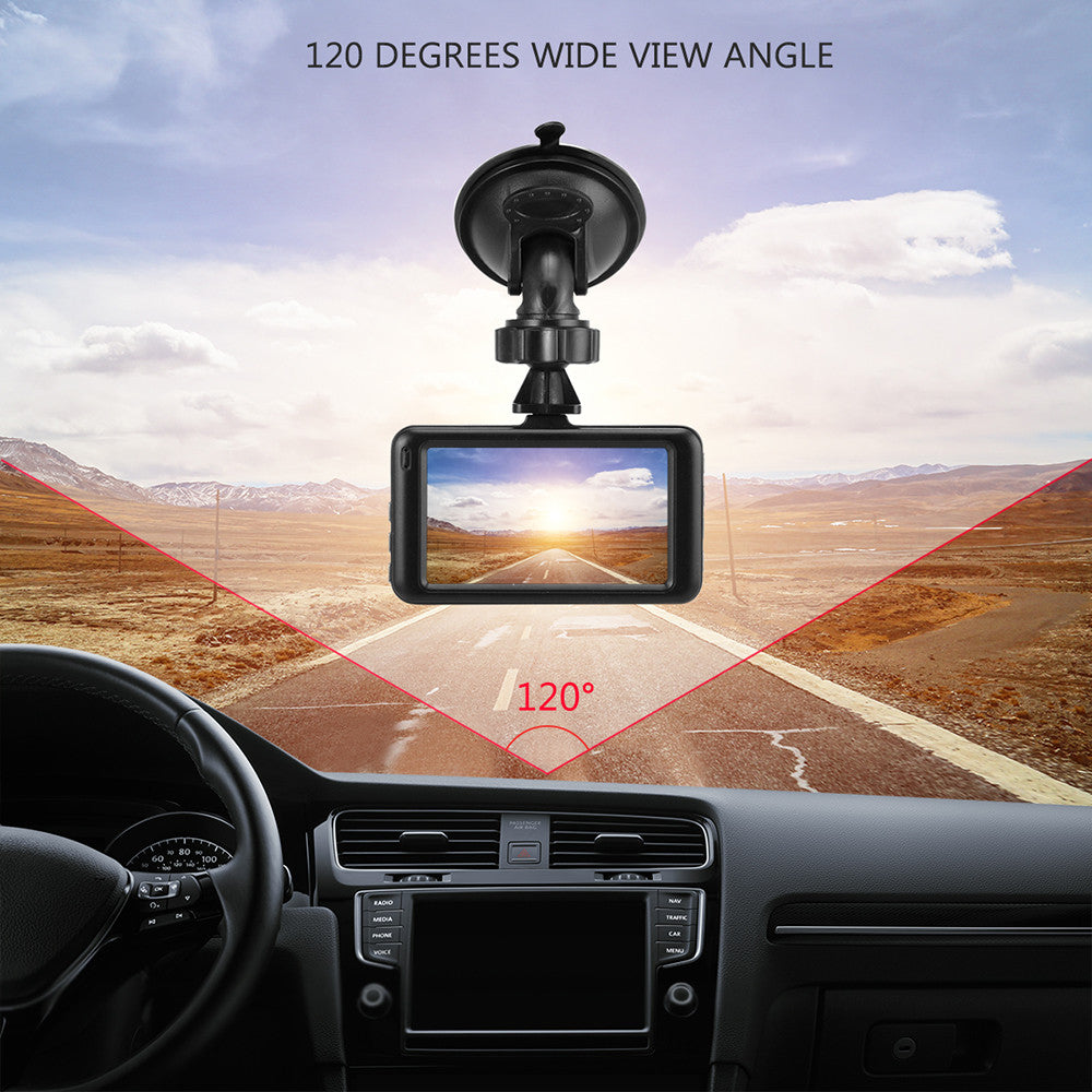 "Car DVR Camera-360d, 3"" Dash Cam, Video-Motion Detection/G-sensor/Loop Video"