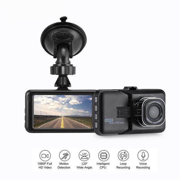 Car DVR Camera 360 Dash-Cam, Recorder, Motion Detection & G-sensor