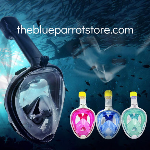 Full Face Snorkel Mask with Anti-fog-FULL 180 degree, Anti-leak Snorkel
