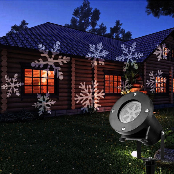Christmas-Laser-Projector,Snowflakes, Santa,Disco Party Stage, Light 64-LED's