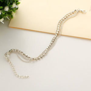 Multi-layer Sexy 2019 Crystal Anklet, Ankle Bracelet, Foot Chain, Trendy Ankle Bracelet Charm, Anklets for Wedding, Fashion Jewellery
