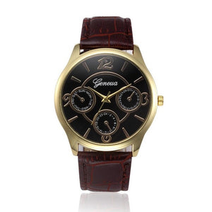 Top Luxury Brand Men's Quartz Stainless Steel Business Watch