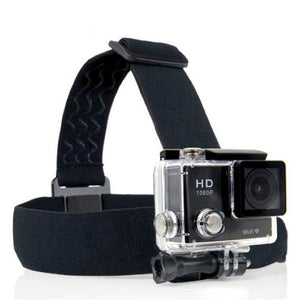 Action Camera Headband, Head-strap Mount, Tripod Helmet, Sport Cam