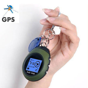 Mini GPS Receiver Tracker+Location, Key-chain USB Rechargeable,Outdoor Quality Multi Tools