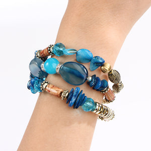 Multi-layer Stone effect Bracelet & Bangles, Woman Vintage Long Cuff Bracelets, Ethnic Jewellery, fashion jewellery.