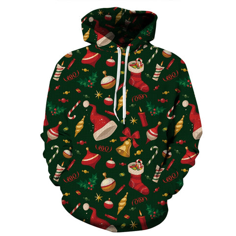 Christmas Print Sweatshirts, Unisex Hooded Christmas Jumpers,