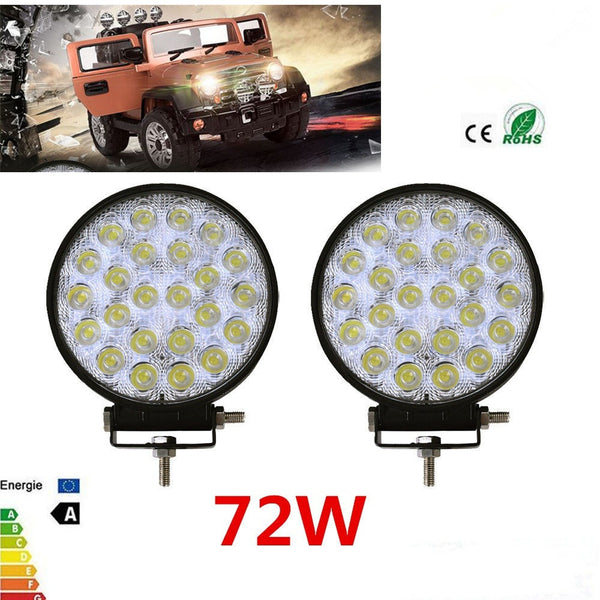 Vehicle Accessories - 72w LED Fog-Driving Lamp,  For Car, 4X4 Jeep, Boat, SUV, ATV,