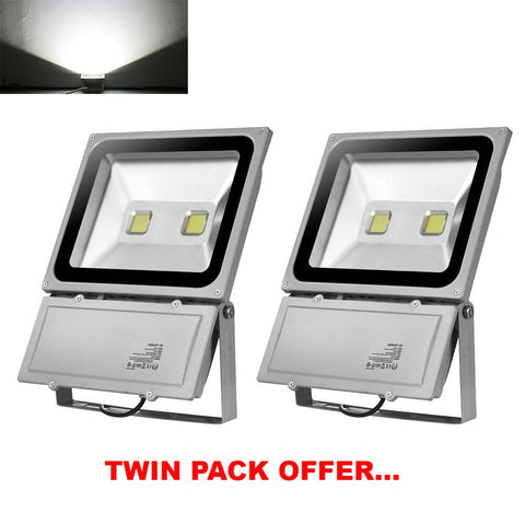 LED Floodlights, 2pack Cool White, Outdoor LED Garden Lamps