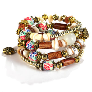 Vintage Bohemian Colourful Ball Bracelet & Bangles