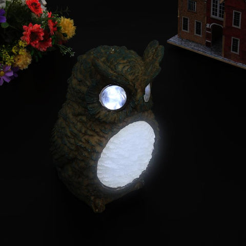 Owl LED Home Yard Decor Outdoor Light, Lighting Statue, Landscape Lamp, Garden Party Decor