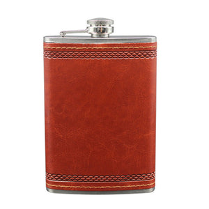 Portable Stainless Steel Flagon Delicate Portable Little Flask for Gin & Spirits