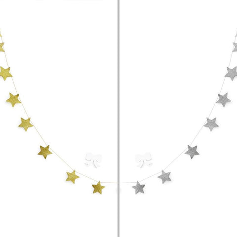 Christmas Star, Gold Stars Decoration, Bunting