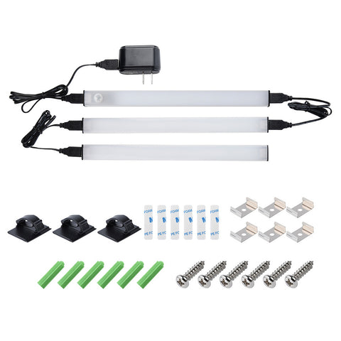 LED Kitchen-Room Cabinet 3piece Light Set with P.I.R,