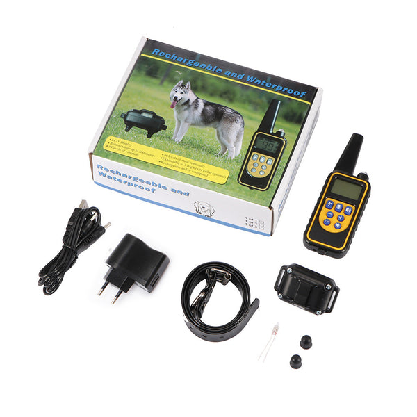 800M Remote Control Pet Dog Training Collar With Vibrating Shock Mode