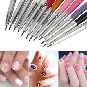 Colourful Nail Art Painting Drawing Pen Polish Brush Set,Top Quality