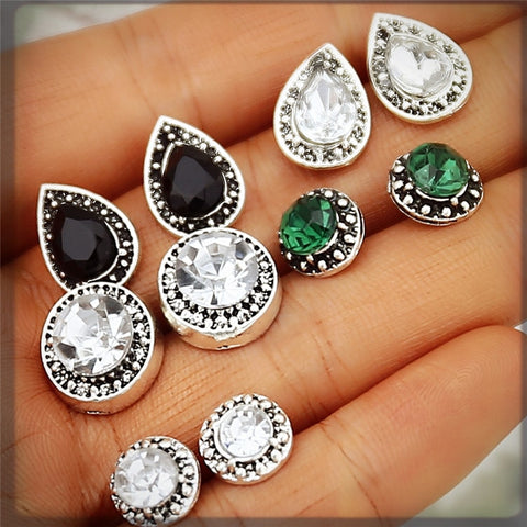 Vintage Stud Earrings Set For Women ,Bohemian Retro Brincos Jewellery Gifts