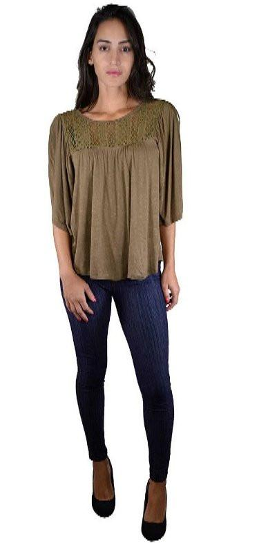 d019654effd Cutout Lace Detailing Bell Sleeves Top - Sweet Cajun Soul Warehouse LLC