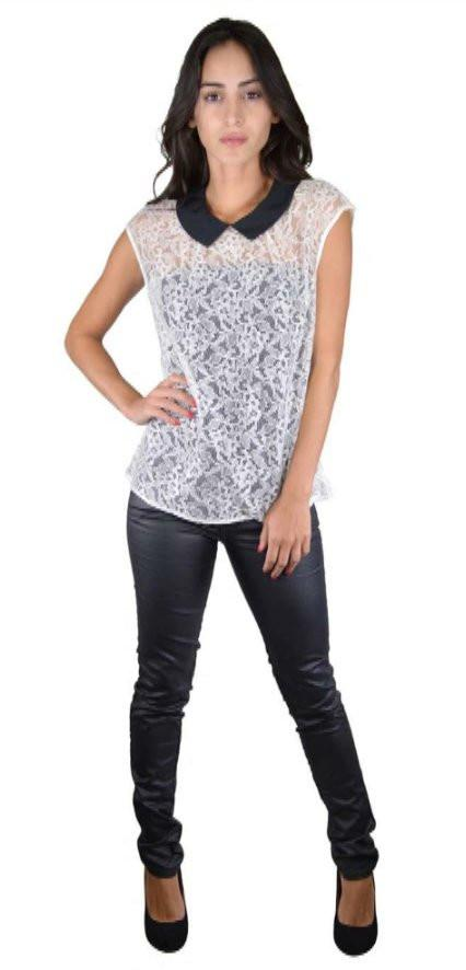 917e5c704ad Floral Mesh Detailing Peter Pan Collar Top-33140 - Sweet Cajun Soul  Warehouse LLC