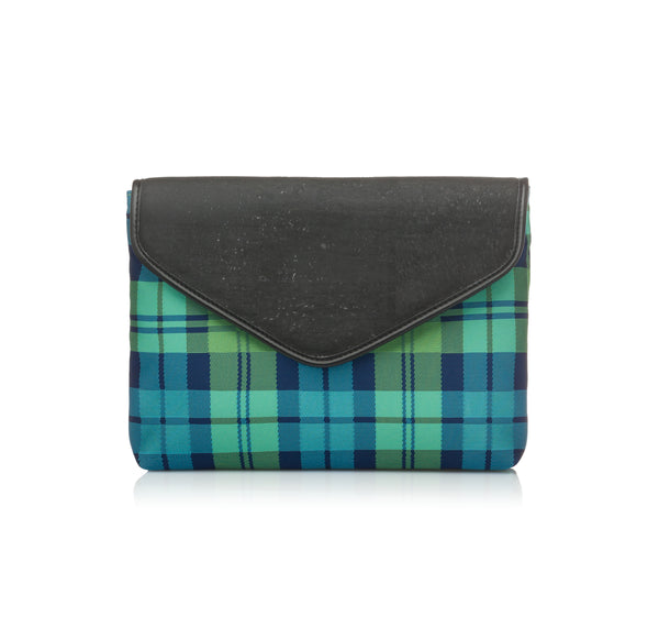 Plaid Envelope Clutch