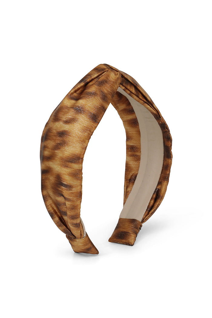 Light Leopard Metallic Headband
