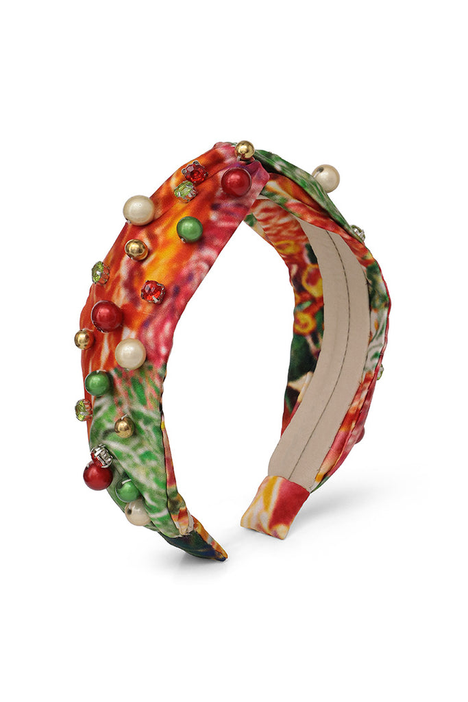 Holiday Silk Beaded Headband