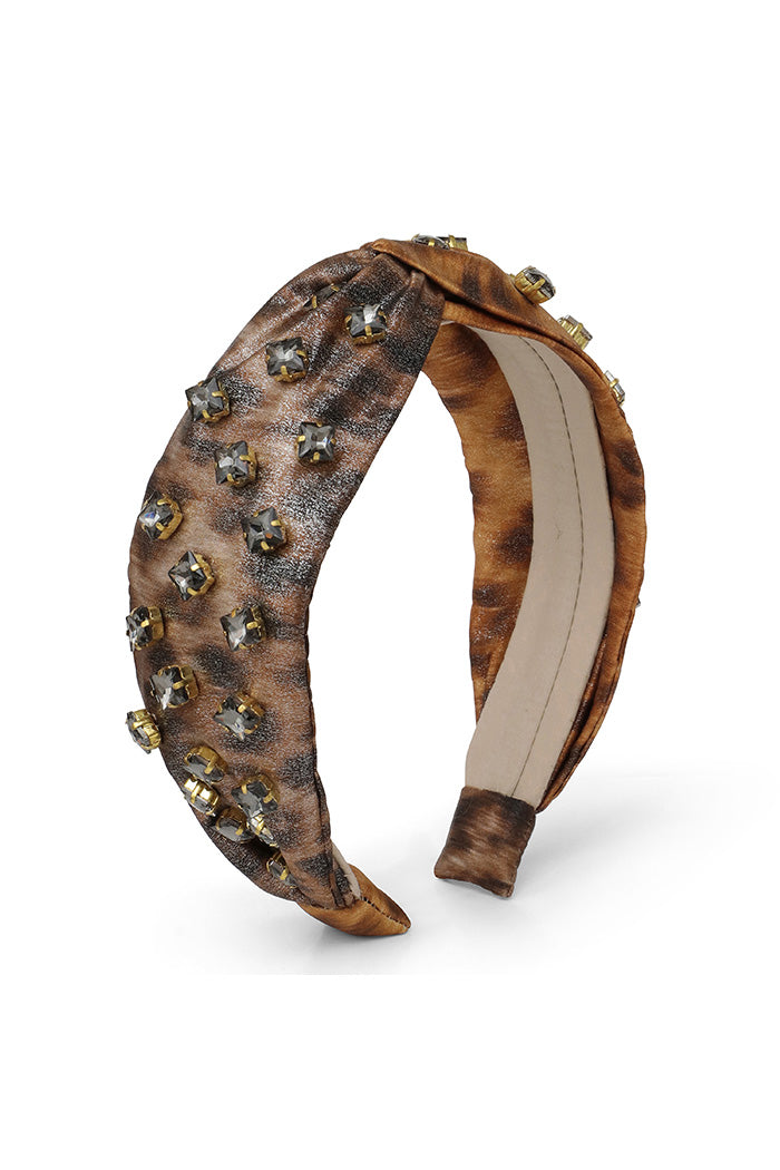 Leopard Metallic Beaded Headband <br> As seen in goop gift guide