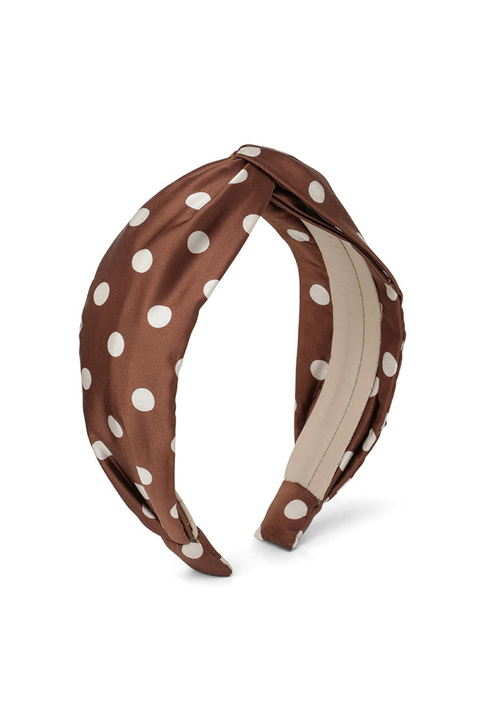 Chocolate Polka Dot Headband