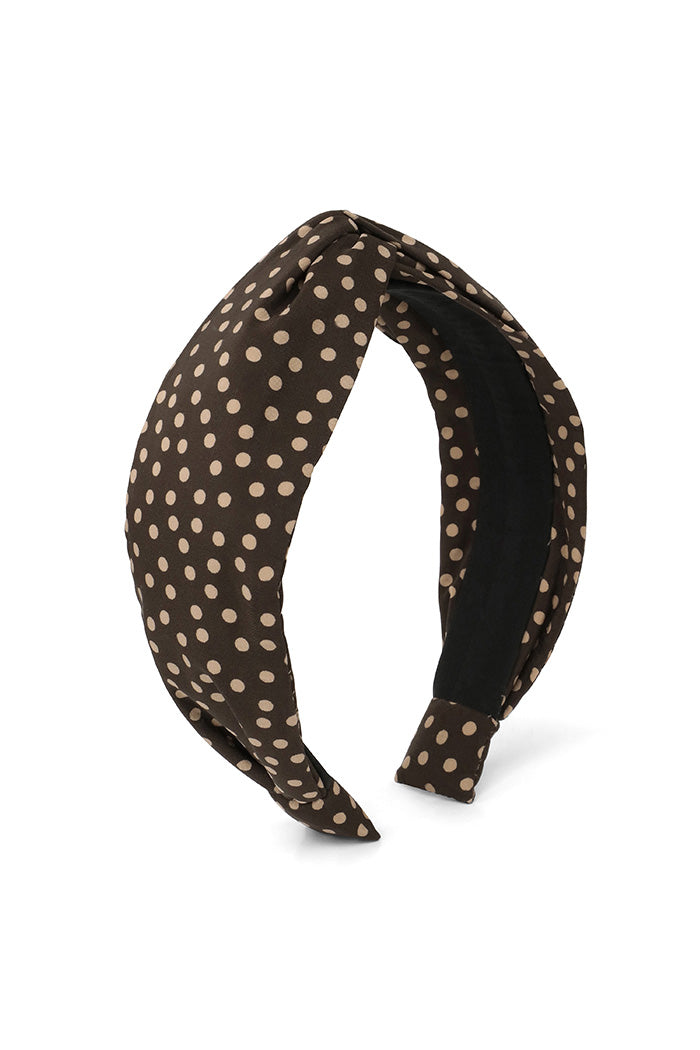 Chocolate Mini Polka Dot Headband