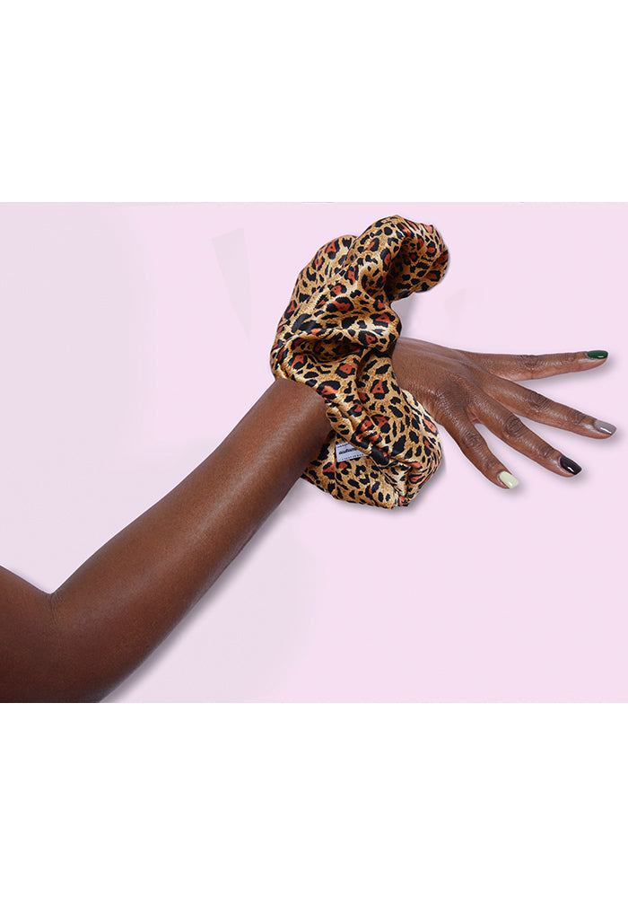 Cartoon Leopard Scrunchie