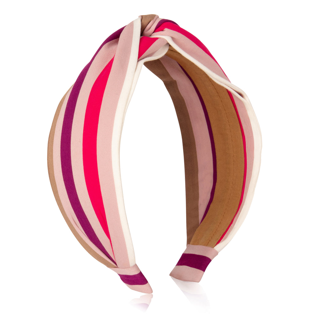 Pink Multi Stripes Headband
