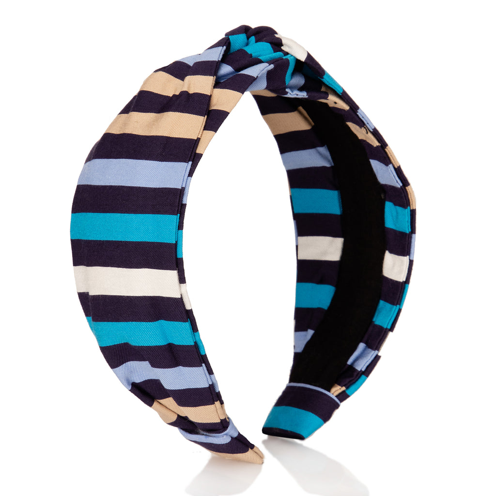 Navy Multi Stripes Headband