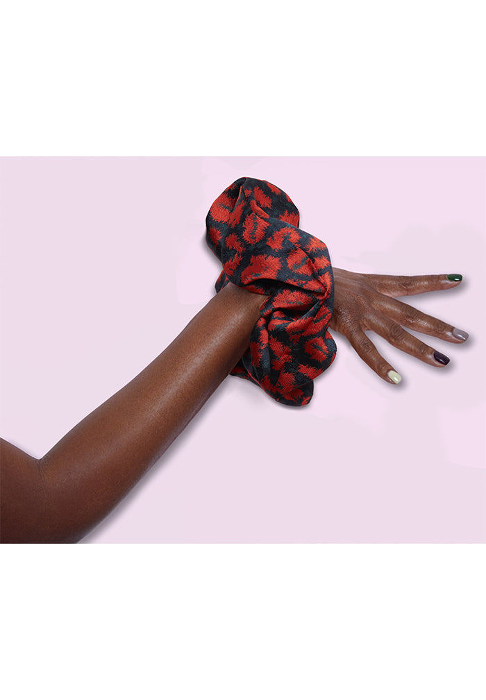 Red Leopard Scrunchie