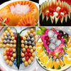 Image of 2-in-1-Double End Stainless Steel Fruit Baller Carving Knife Melon Scoop