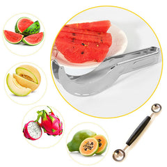 Stainless Steel Expert Chef Watermelon Slicer & Melon Ball Scoop