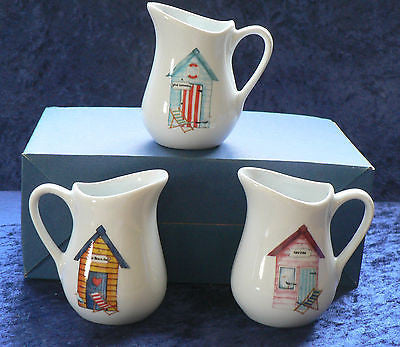 Beach Huts porcelain cream/milk jug - small 0.125 litres 3 cols