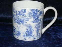Toille de jouy 1 pint bone china mug  diff all round