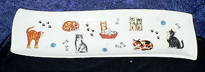 Fun cats porcelain garlic bread tray tapas dish nibbles dish snack tray