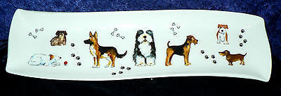 Fun dogs porcelain garlic bread tray tapas dish nibbles dish snack tray