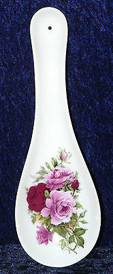 Pink rose Roses large ceramic spoon rest