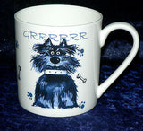 Dog 1 pint bone china mug dogs different around mug