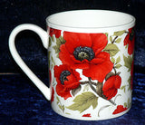Poppy 1 pint bone china mug - Poppies all around mug