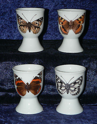 Butterfly Butterflies set of 4 ceramic egg cups