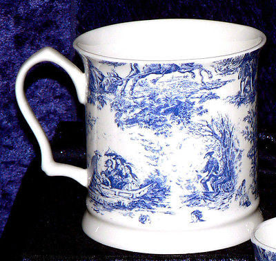 Toille de Jouy pattern Bone China tankard