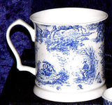 Toille de Jouy pattern Bone China tankard in a choice of 2 sizes