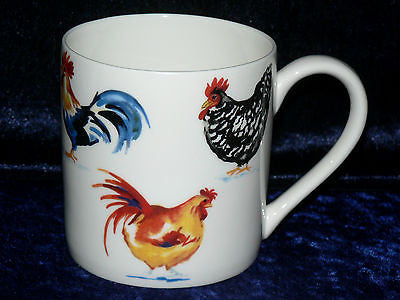 Chicken rooster 1 pint bone china mug  diff all round