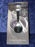 Dogs Mug & teabag squeezer Bone China mug with stainless teabag tongs - options